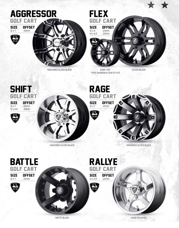 golf buggy wheels